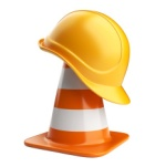 stock-photo-44101638-traffic-cones-and-hardhat-3d-road-sign-icon-isolated